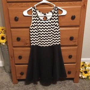 Fun black and white dress